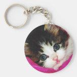 Worlds Cutest Kitten Basic Round Button Keychain