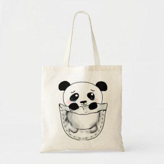 World's CUTEST Pocket Panda Budget Tote Bag