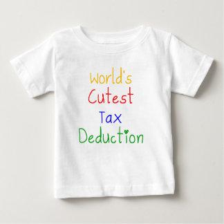 World's Cutest Tax Deduction Baby T-Shirt