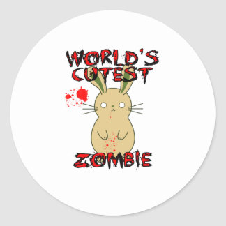World's Cutest Zombie Classic Round Sticker