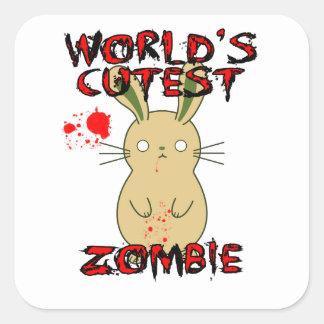 World's Cutest Zombie Square Sticker