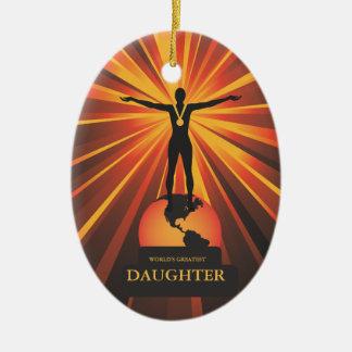 Worlds Daughter Trophy Award Ornament