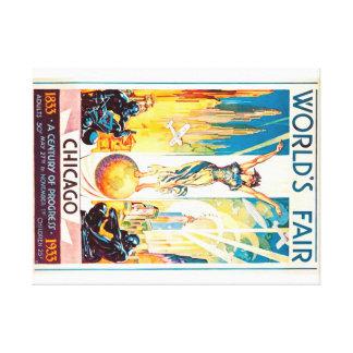Worlds Fair Chicago 1933 Advertisement Poster Canvas Print