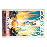Worlds Fair Chicago 1933 Advertisement Poster Photo Print