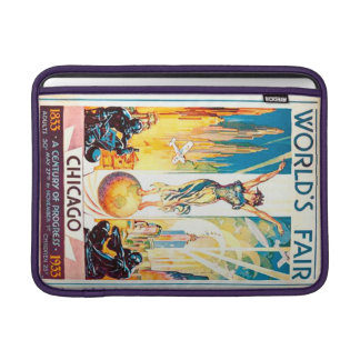 Worlds Fair Chicago 1933 Advertisement Poster Sleeves For MacBook Air