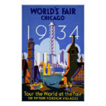 World's Fair Chicago 1934 Poster