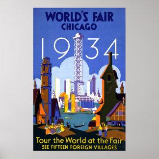 World's Fair Chicago 1934 Poster