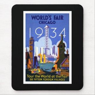 """World's Fair, Chicago 1934"" Vintage Mousepad"