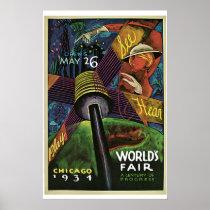 """World's Fair, Chicago, 1934"" Vintage Poster"