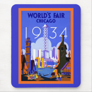 World's Fair Chicago 1934 ~ Vintage Travel Mouse Pad