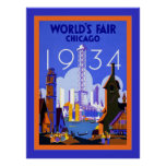 World's Fair Chicago 1934 ~ Vintage Travel Poster