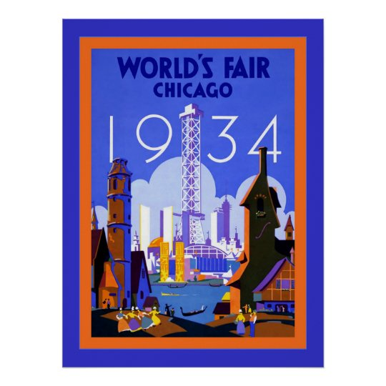 World's Fair Chicago 1934 ~ Vintage Travel Poster