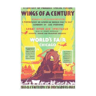 Worlds Fair Chicago Vintage Travel Poster Artwork Canvas Print