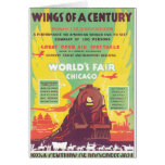 Worlds Fair Chicago Vintage Travel Poster Artwork Card