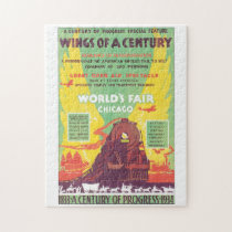 Worlds Fair Chicago Vintage Travel Poster Artwork Jigsaw Puzzle