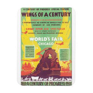 Worlds Fair Chicago Vintage Travel Poster Artwork Magnet