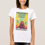 Worlds Fair Chicago Vintage Travel Poster Artwork T-Shirt