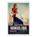 World's Fair in New York Vintage Poster Print