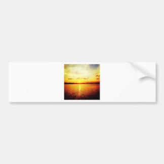 World's Fair Marina Sunset Car Bumper Sticker