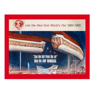 World's Fair Monorail, New York 1964 Vintage Postcard
