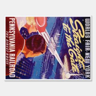 Worlds Fair New York 1939 Poster Sign