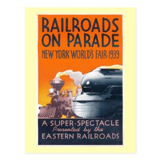 World's Fair, NYC Railroads on Parade 1939 Vintage Postcard