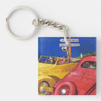 World's Fair or Bust Square Acrylic Keychain