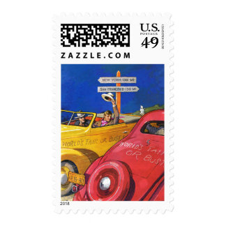 World's Fair or Bust Postage Stamp