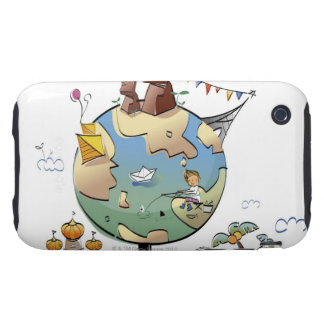 World's famous places around the globe iPhone 3 tough case