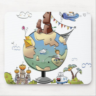 World's famous places around the globe mouse pads