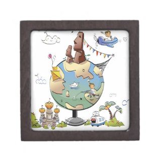 World's famous places around the globe premium keepsake boxes
