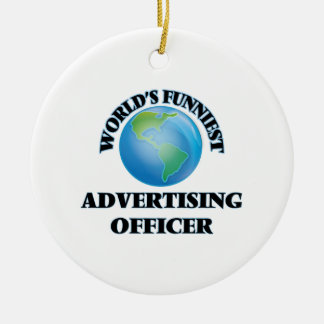 World's Funniest Advertising Officer Christmas Tree Ornament