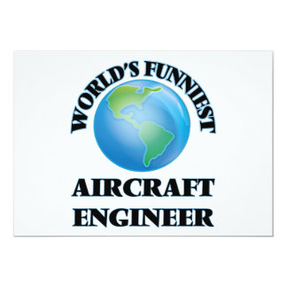 World's Funniest Aircraft Engineer 5x7 Paper Invitation Card