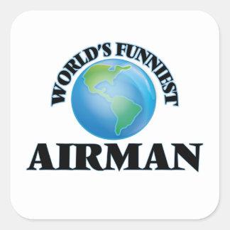 World's Funniest Airman Square Sticker