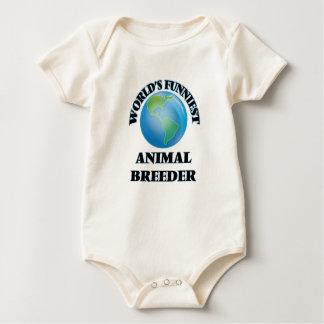 World's Funniest Animal Breeder Baby Bodysuit