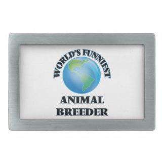 World's Funniest Animal Breeder Belt Buckle
