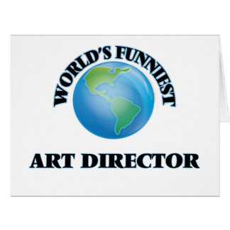 World's Funniest Art Director Large Greeting Card