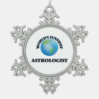 World's Funniest Astrologist Snowflake Pewter Christmas Ornament