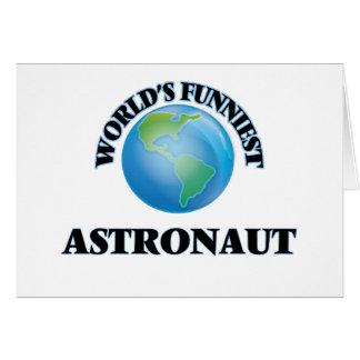 World's Funniest Astronaut Greeting Card
