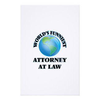 World's Funniest Attorney At Law Stationery