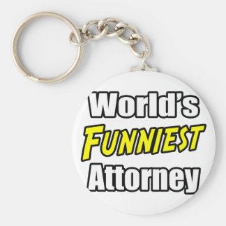 World's Funniest Attorney Basic Round Button Keychain