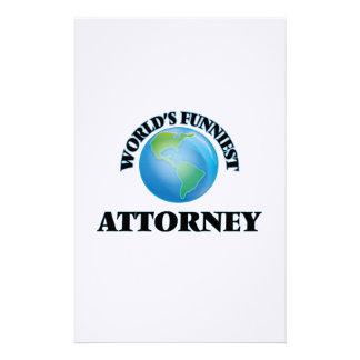 World's Funniest Attorney Custom Stationery