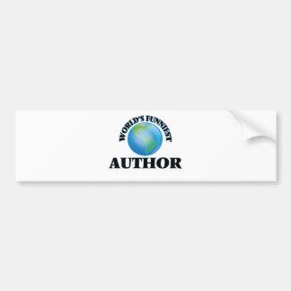 World's Funniest Author Car Bumper Sticker