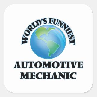 World's Funniest Automotive Mechanic Square Sticker