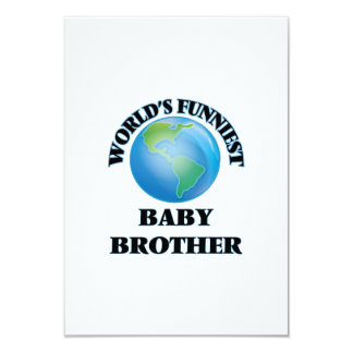 World's Funniest Baby Brother 3.5x5 Paper Invitation Card