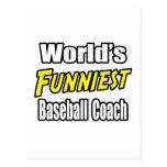 World's Funniest Baseball Coach Postcard