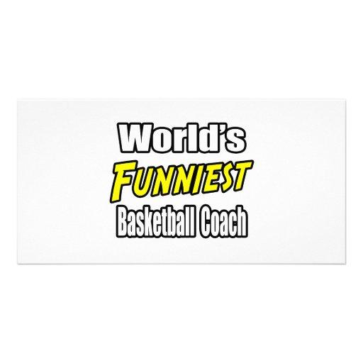 World's Funniest Basketball Coach Photo Card