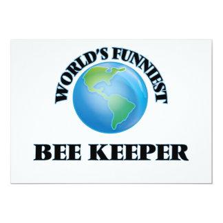 """World's Funniest Bee Keeper 5"""" X 7"""" Invitation Card"""
