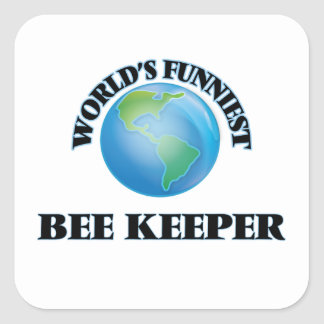 World's Funniest Bee Keeper Square Sticker