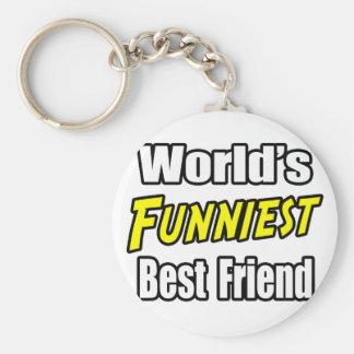 World's Funniest Best Friend Basic Round Button Keychain